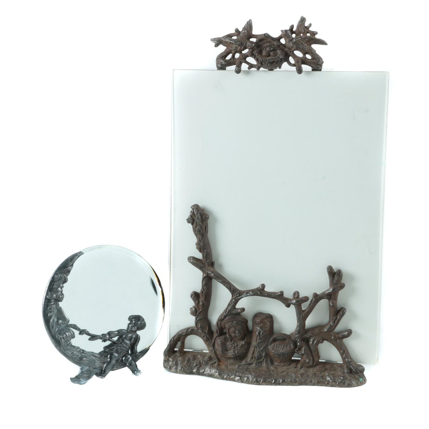 Figurative Cast Metal Frames with Accent Mirror : EBTH