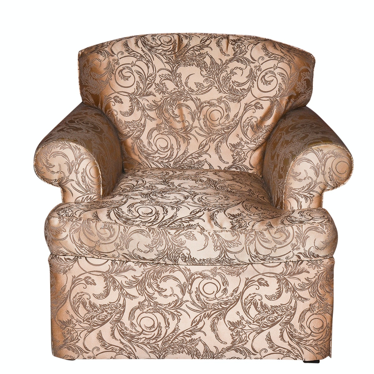 Morris James Foliate Upholstered Club Chair By Glabman Furniture