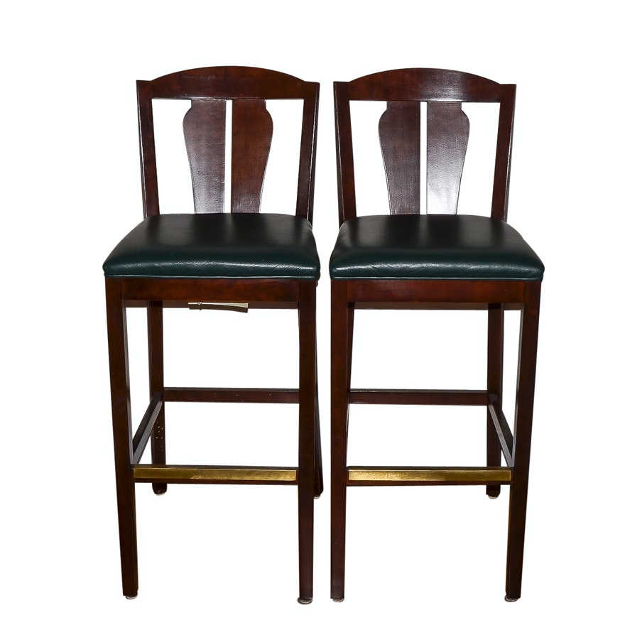 Peachy Pair Of Contemporary Counter Stools By Hancock Moore Gmtry Best Dining Table And Chair Ideas Images Gmtryco