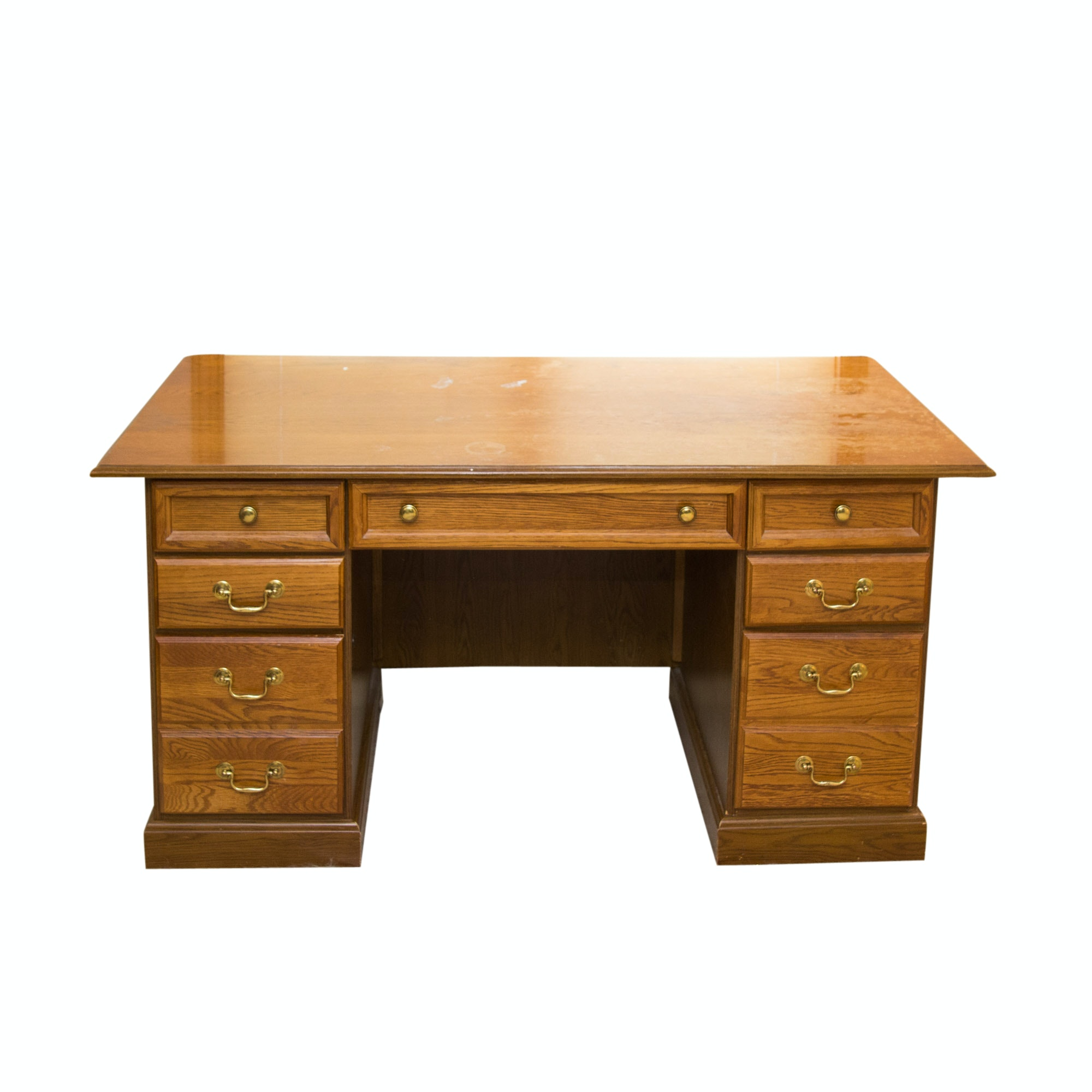 Vintage Oak Office Desk ...