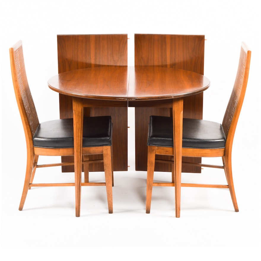 Mid Century Modern Paragon By Drexel Dining Table And Chairs Ebth