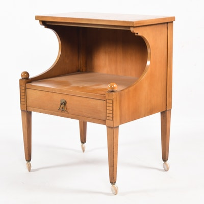 Contemporary Louis Philippe Style Nightstand Ebth