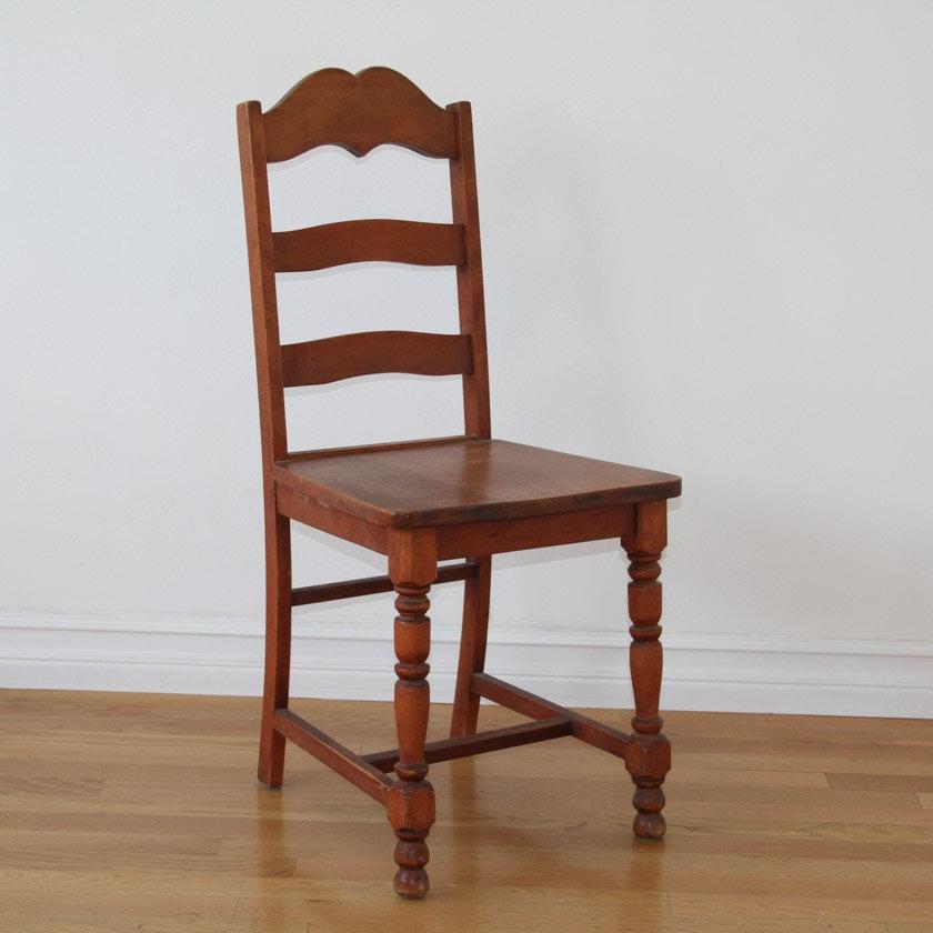 Vintage Wooden Ladder Back Chair ...
