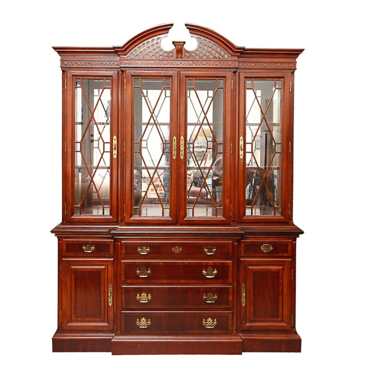 Federal Style Breakfront China Cabinet