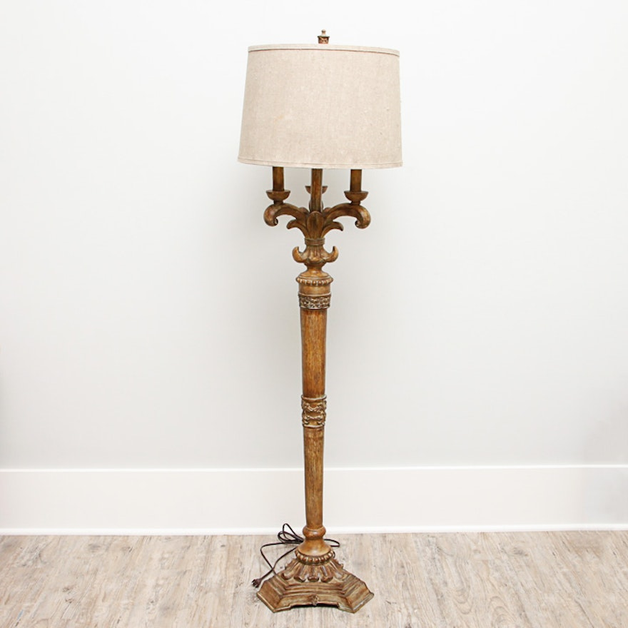 Baroque revival style faux antique finish floor lamp ebth baroque revival style faux antique finish floor lamp aloadofball Images