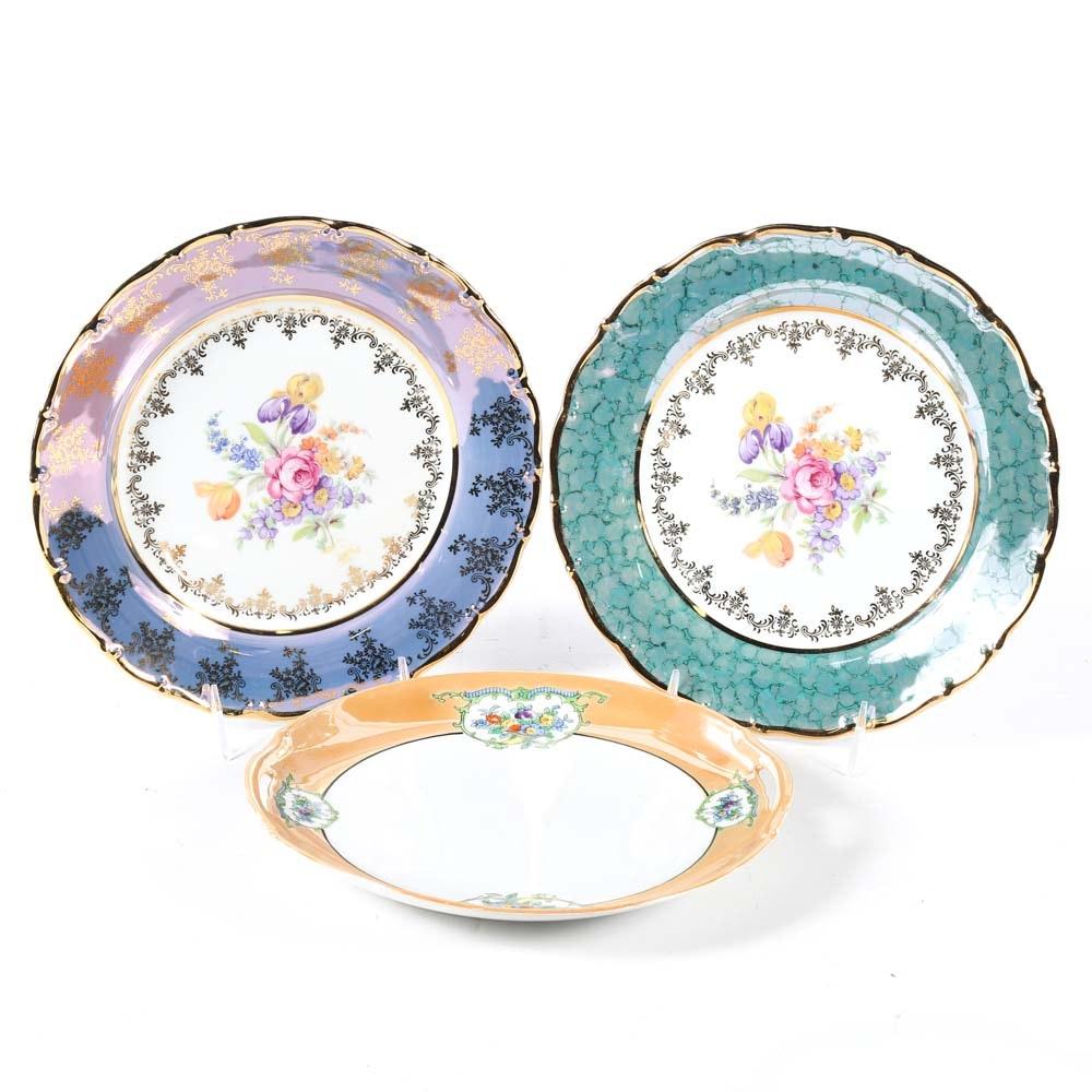 Set of Three Decorative Porcelain Plates ...  sc 1 st  EBTH.com & Set of Three Decorative Porcelain Plates : EBTH