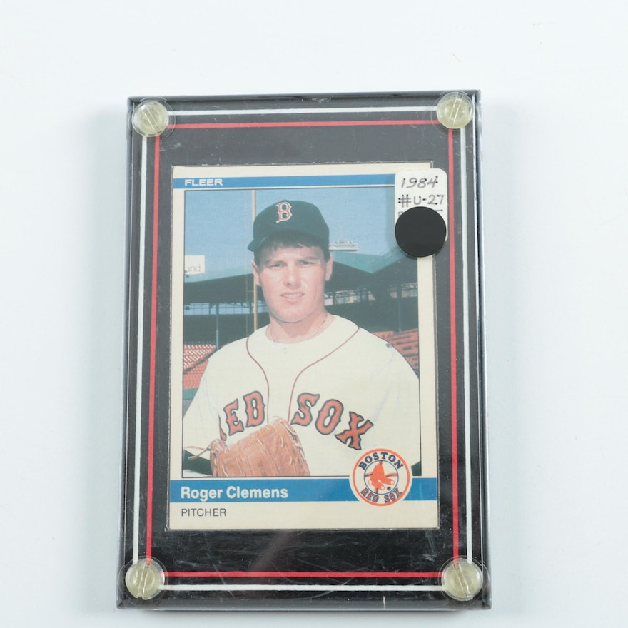 1984 Fleer U 27 Roger Clemens Baseball Card