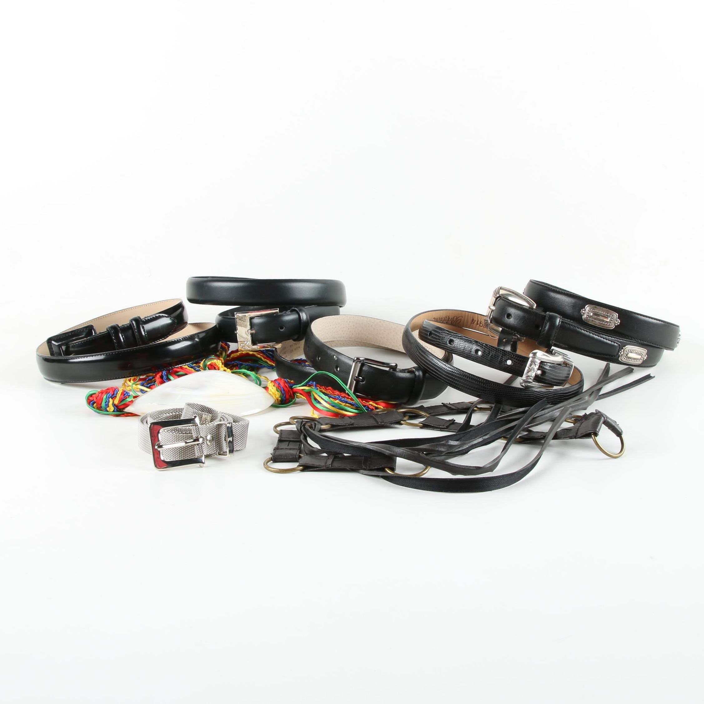 Women's Leather Belts Including Calvin Klein and Brighton