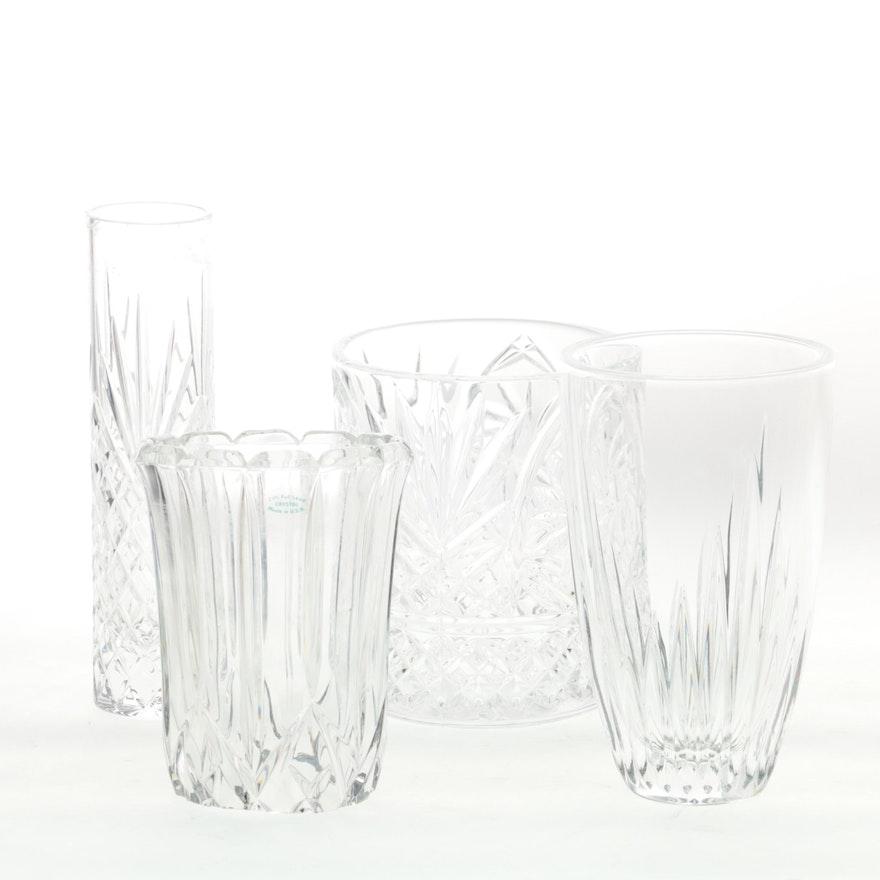 Assorted Crystal Vases Ebth