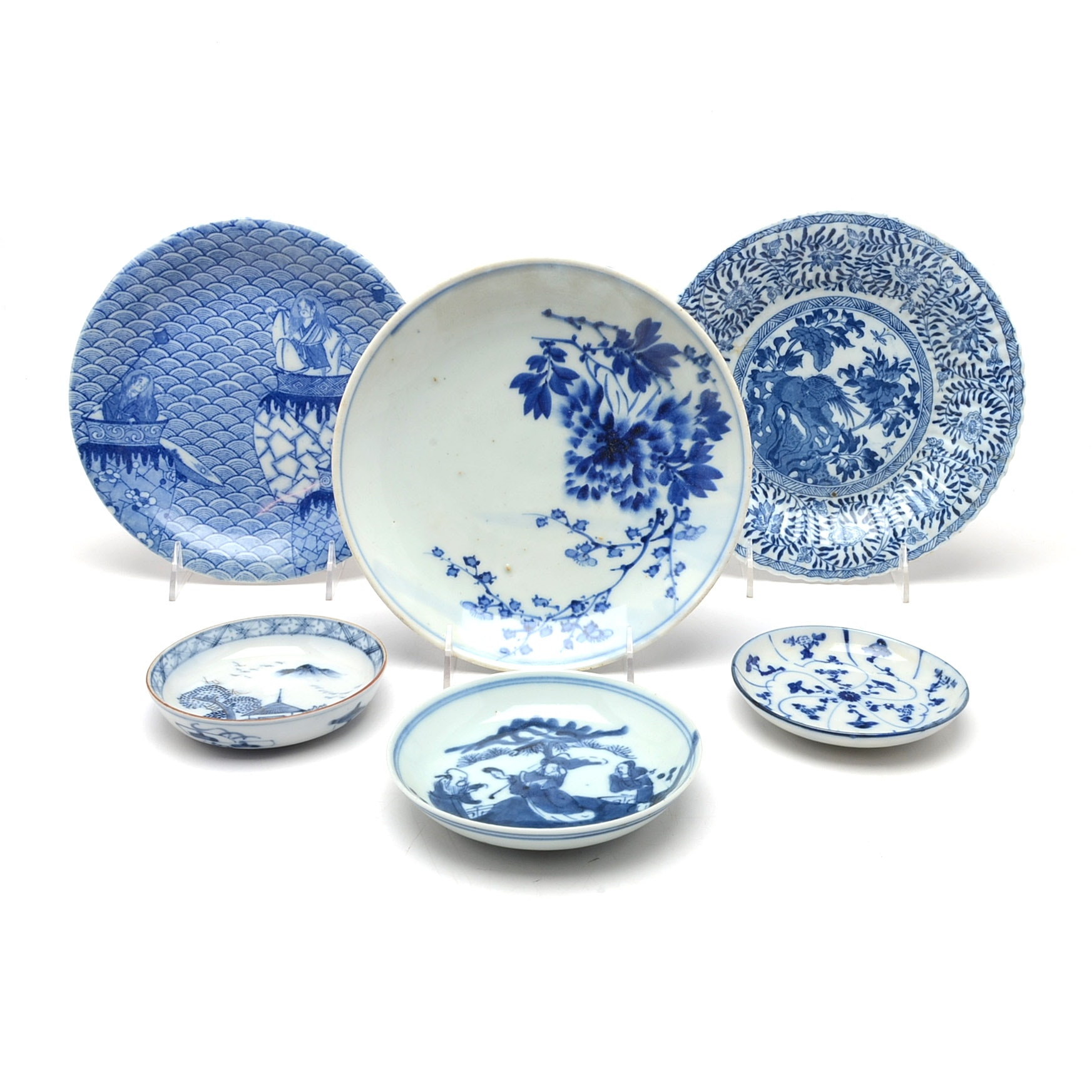 East Asian Blue and White Chinese Decorative Plates ...  sc 1 st  EBTH.com & East Asian Blue and White Chinese Decorative Plates : EBTH