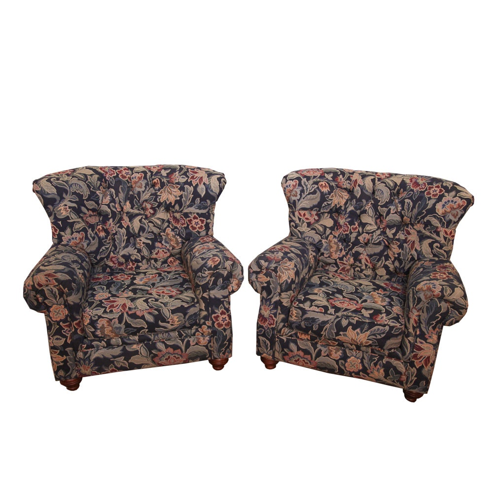 Floral Upholstered Armchairs by Carrington Originals