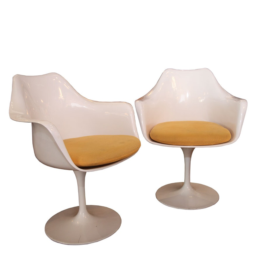 White Tulip Style Chair Pair