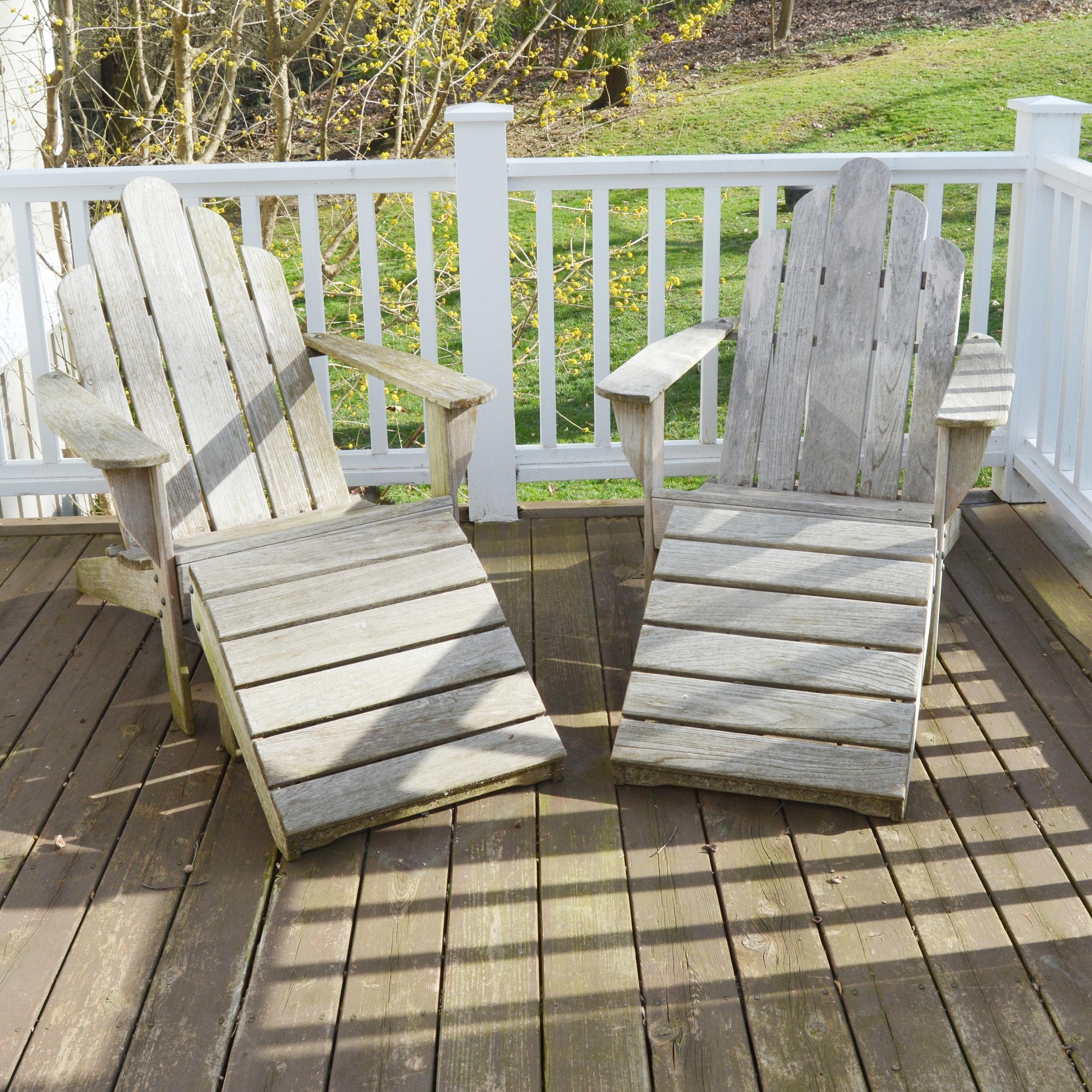 Smith U0026 Hawken Teak Adirondack Chairs ...