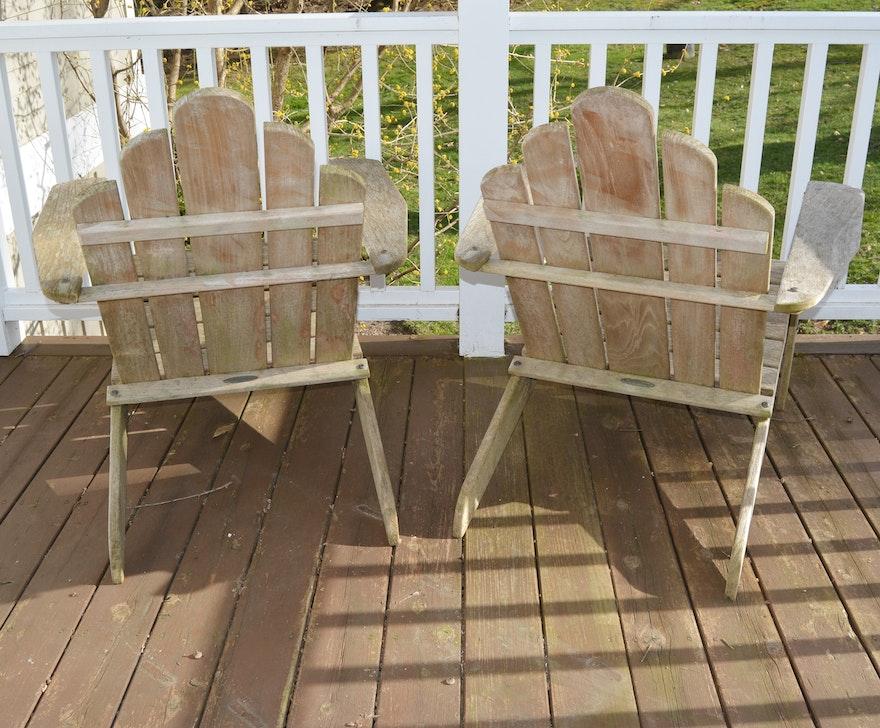 Smith Amp Hawken Teak Adirondack Chairs Ebth