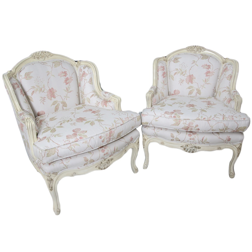 Pair of Vintage Louis XV Style Armchairs