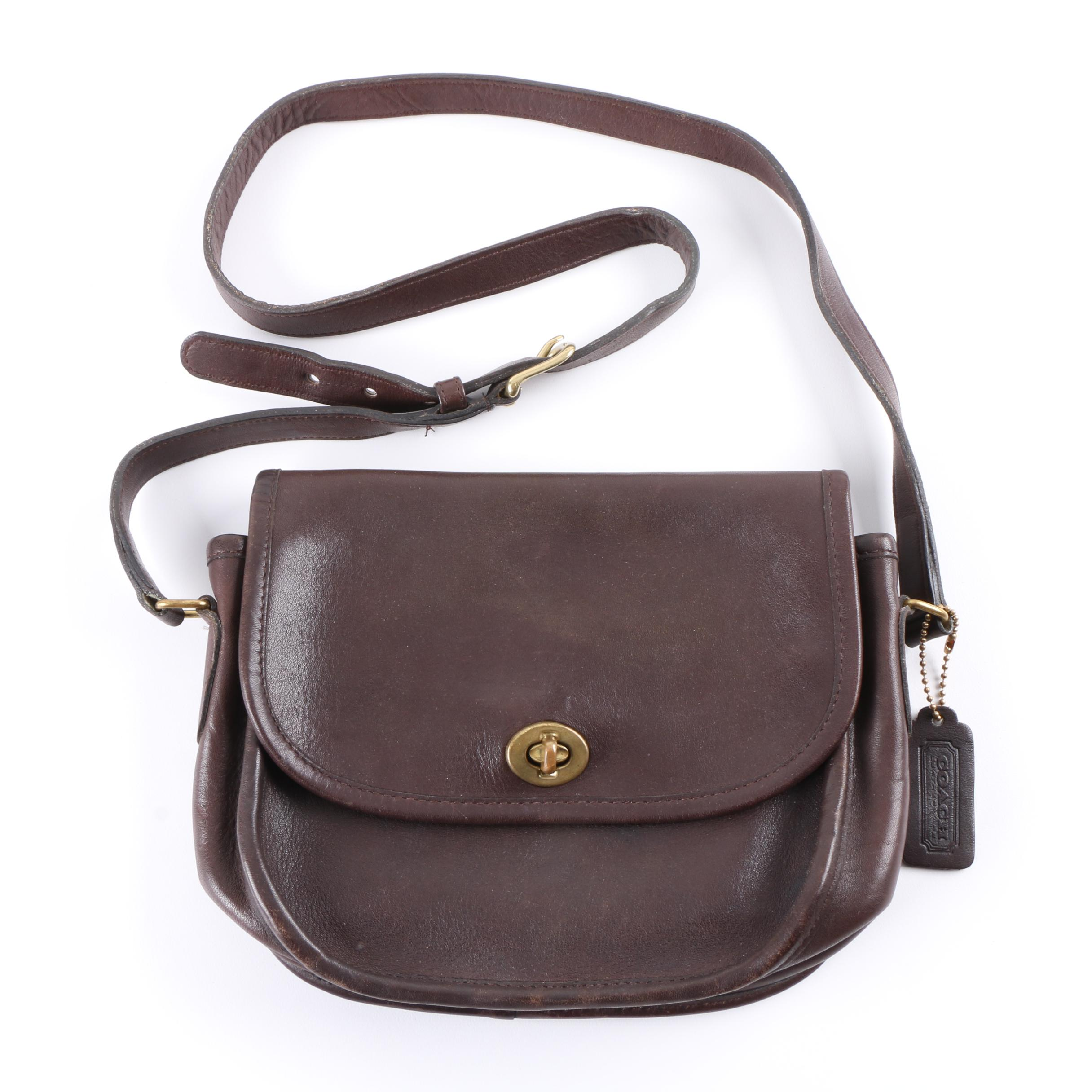 7b9ae91530 ... promo code for vintage coach new york city brown leather crossbody bag  00f42 5706e