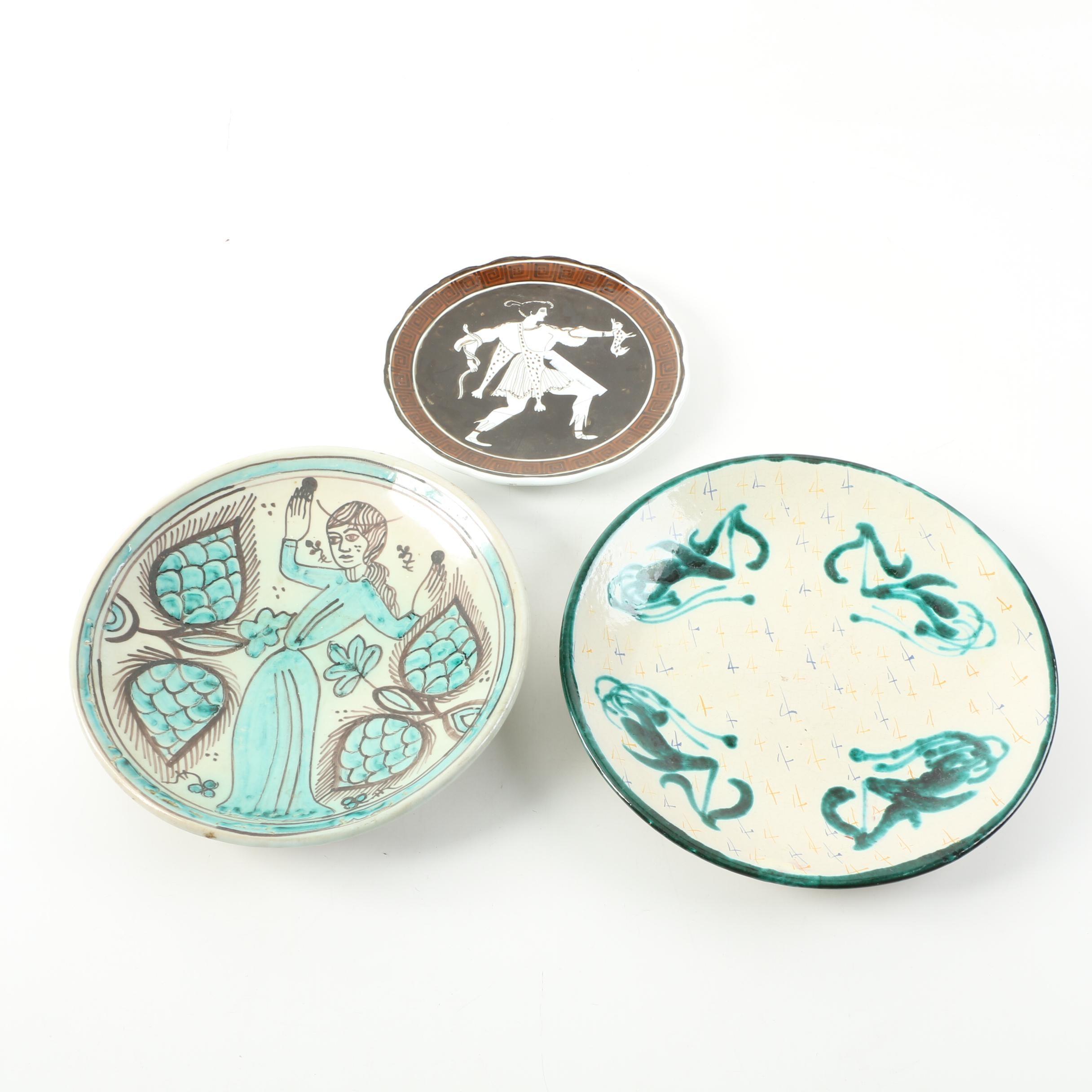 Decorative Hand Painted Ceramic Plates