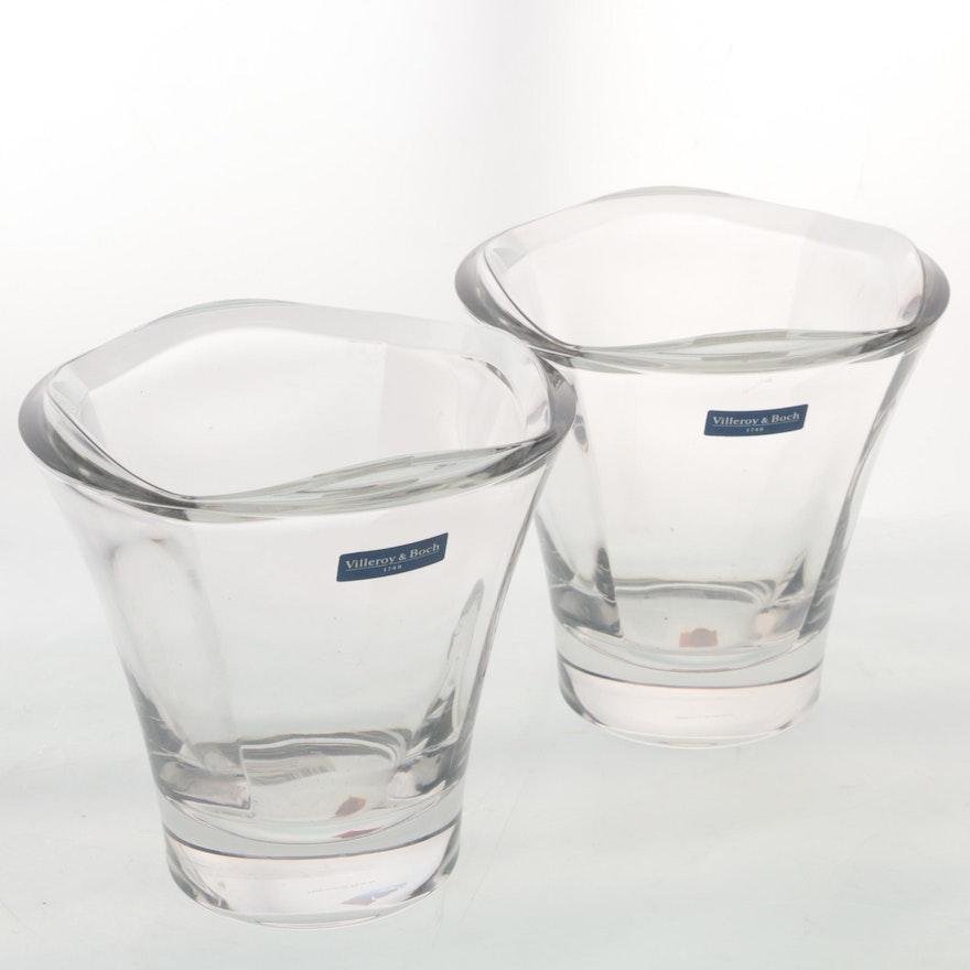 Pair Of Villeroy Boch Gramercy Crystal Vases Ebth