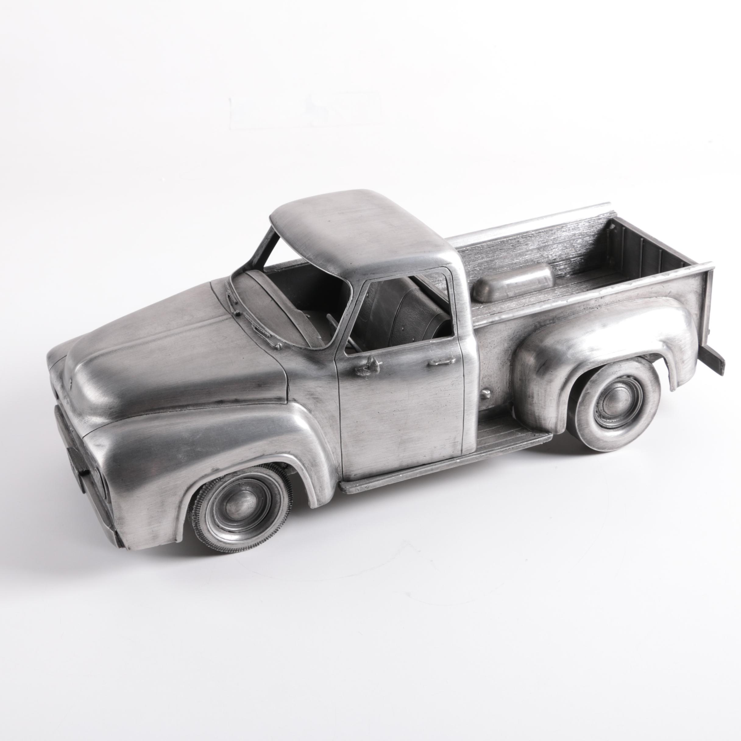 Pewter Pickup Truck Figurine