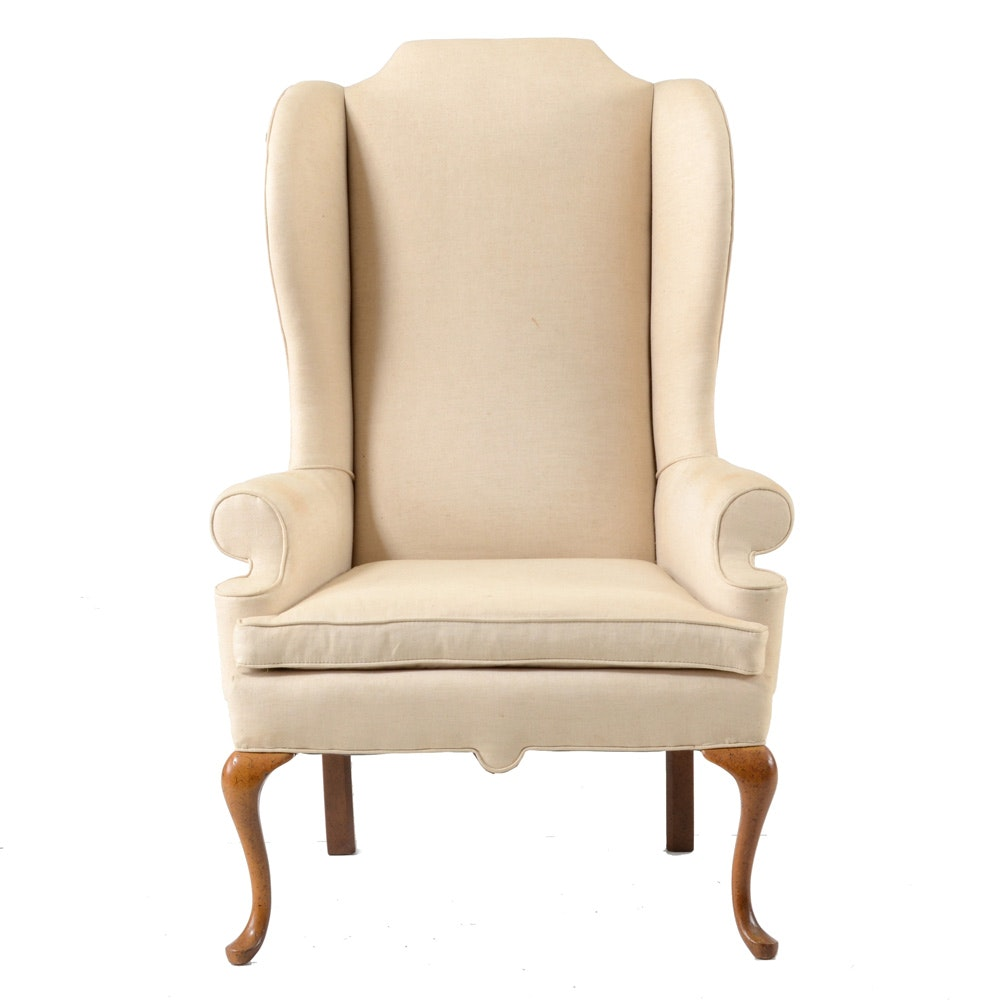 Queen Anne Style Wing Chair By Clyde Pearson ...