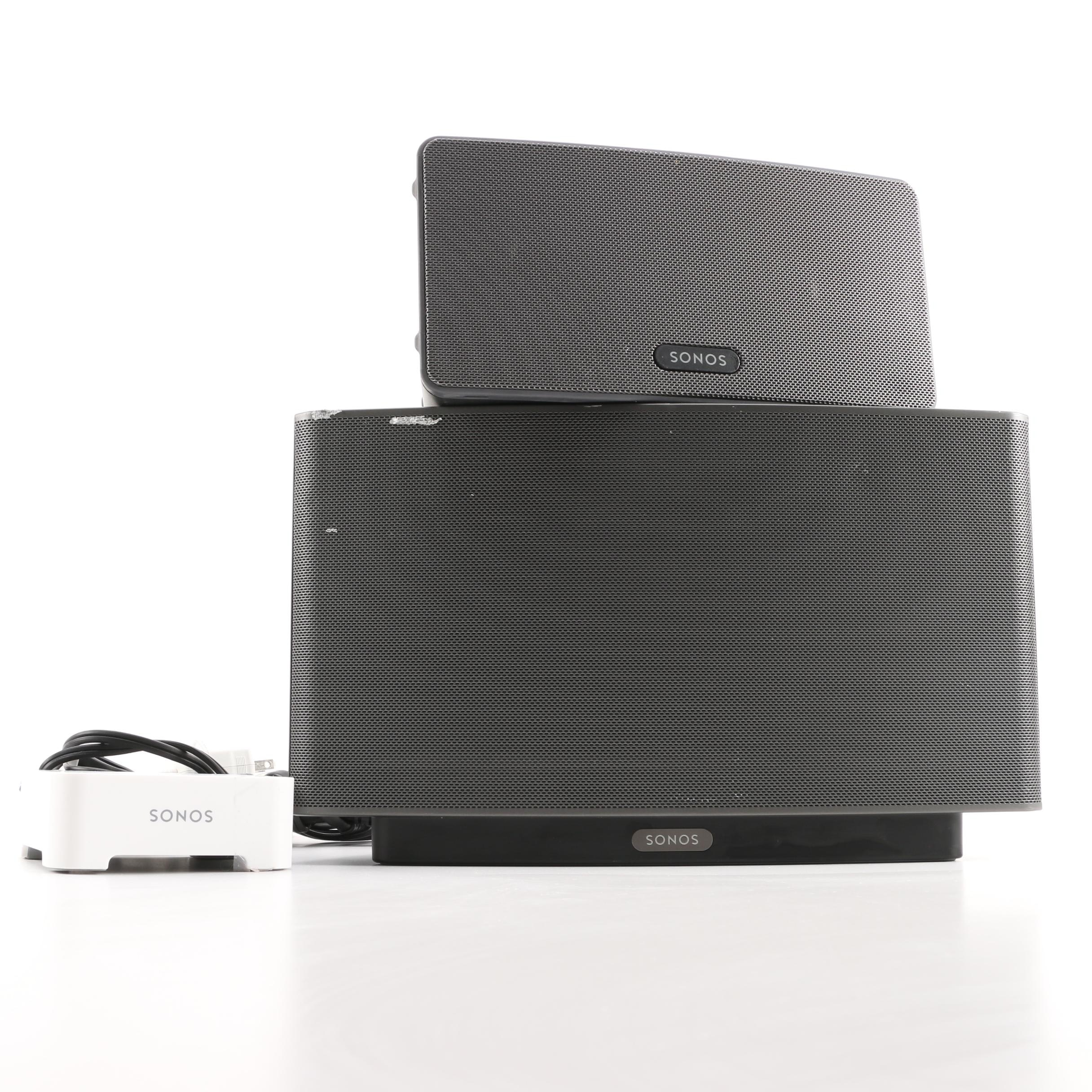 Sonos Play:3 and Play: 5 Wireless Smart Speakers and Wireless Bridge