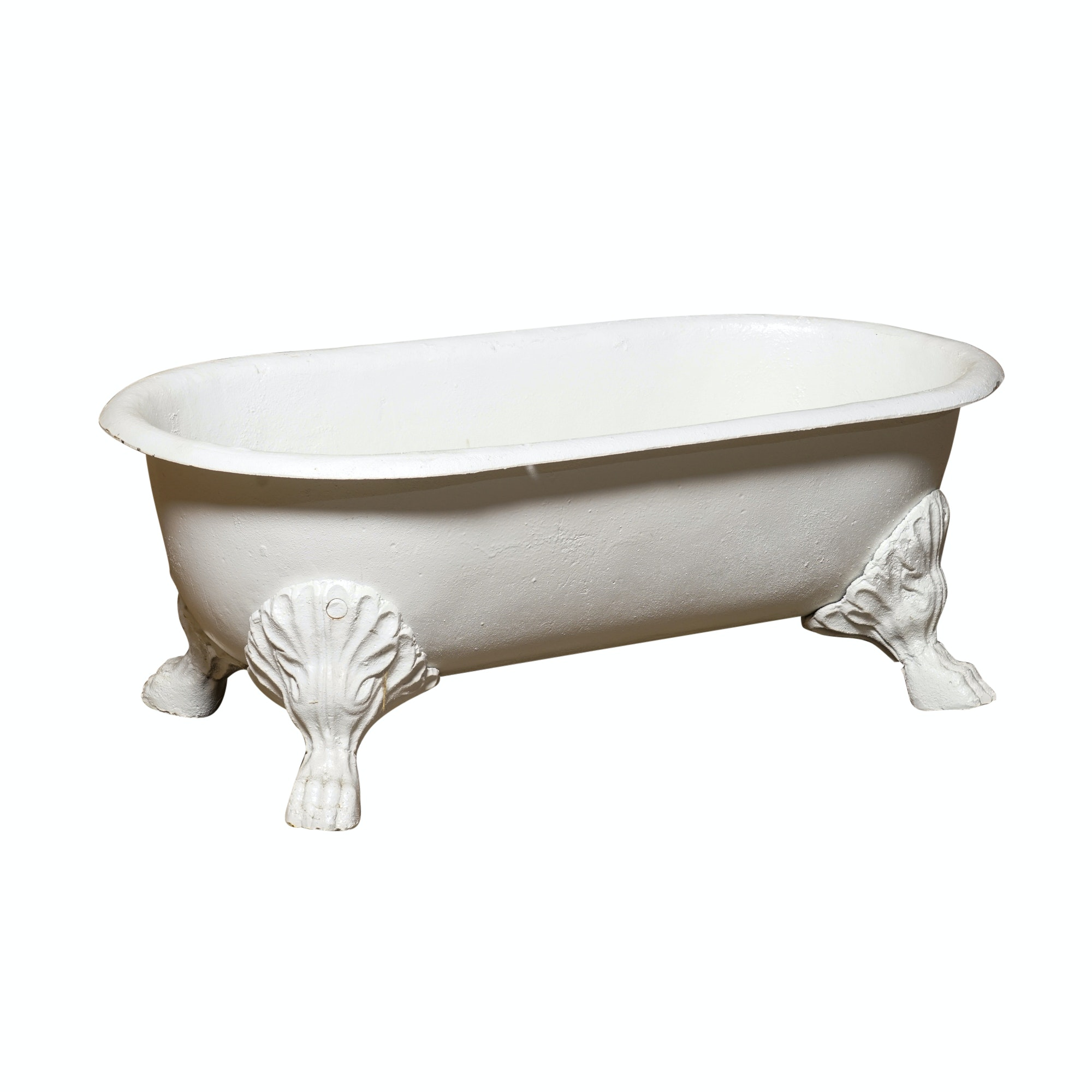 Painted Iron Miniature Clawfoot Bathtub Planter ...