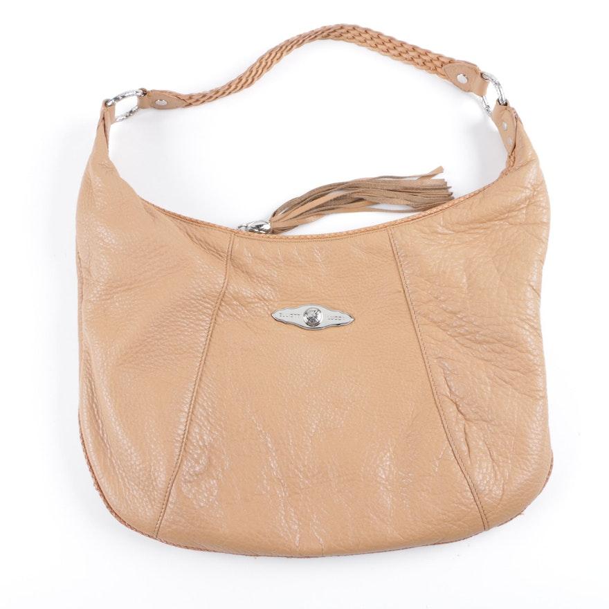 Elliott Lucca Brown Leather Hobo Handbag   EBTH 34d7bc3d2f562