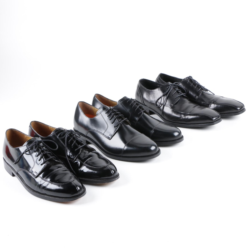 Mens Cole Haan And Kenneth Cole Black Leather Dress Shoes Ebth