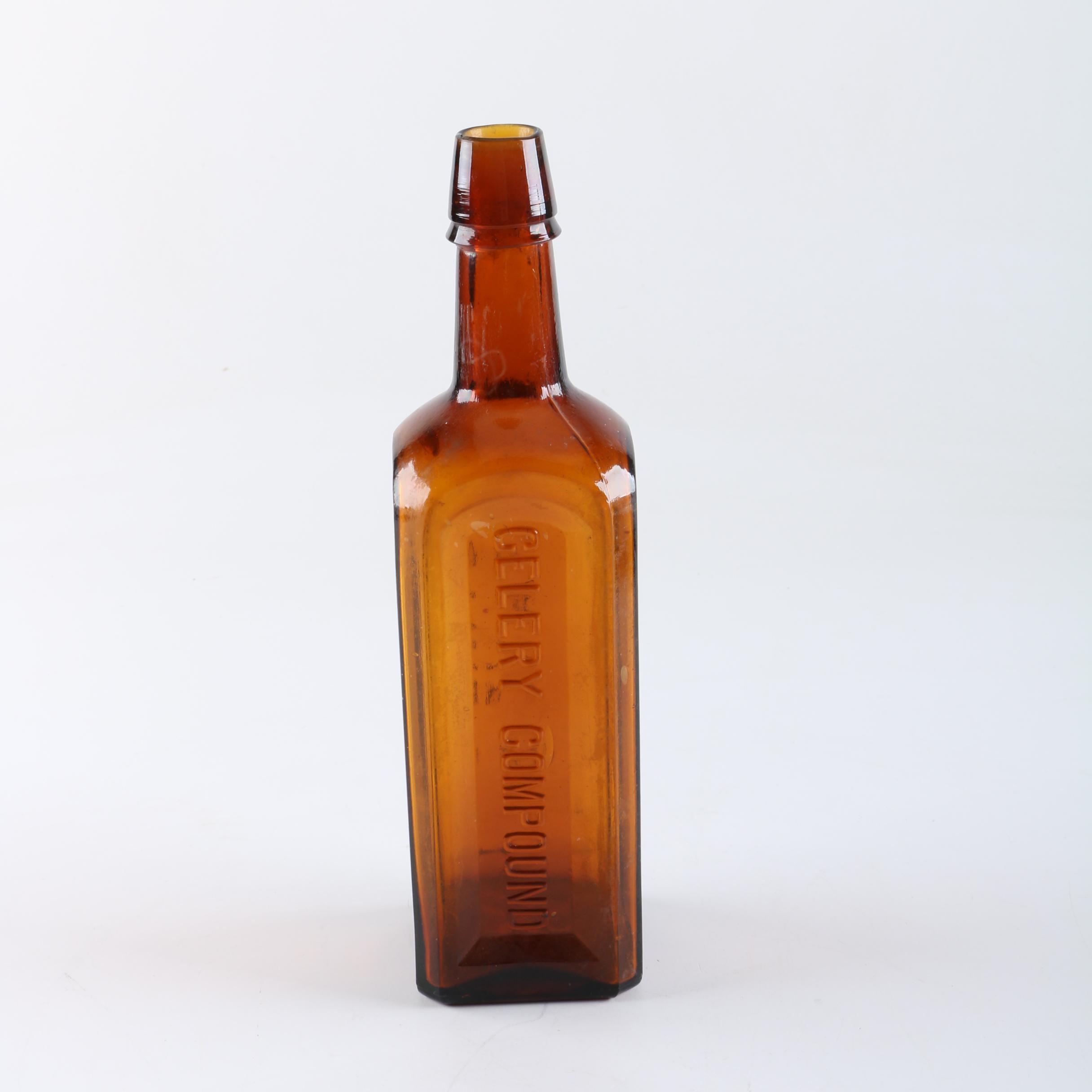 Antique Paine's Celery Compound Patent Medicine Bottle