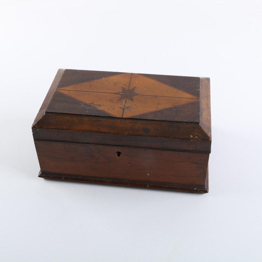 Antique Wooden Vanity Box ... - Antique Wooden Vanity Box : EBTH