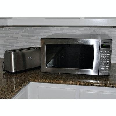 Panasonic Genius Prestige Microwave And Oster Toaster