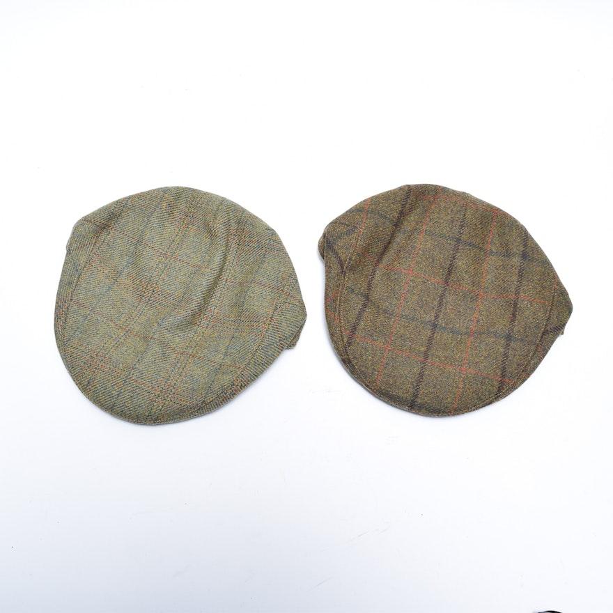 Lock   Co. Hatters Plaid Wool Fairway Caps   EBTH 0f083d65e90c