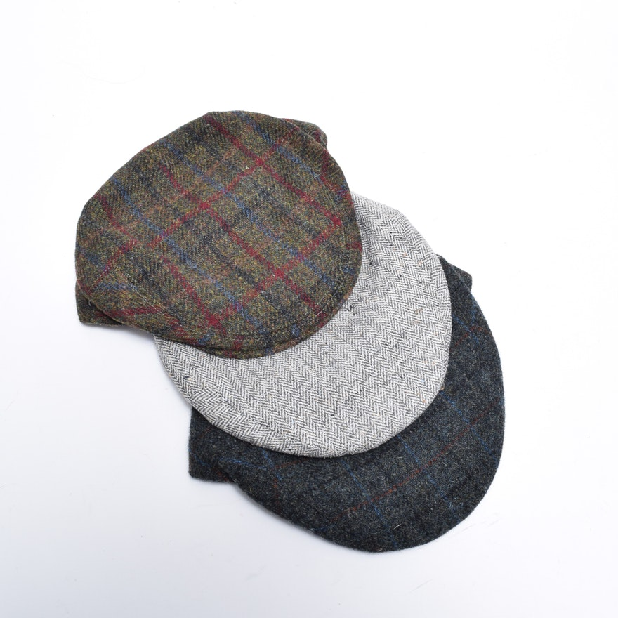 Men s Lock   Co. Hatters Fairway Wool and Linen Flat Caps   EBTH ea508b0631a4