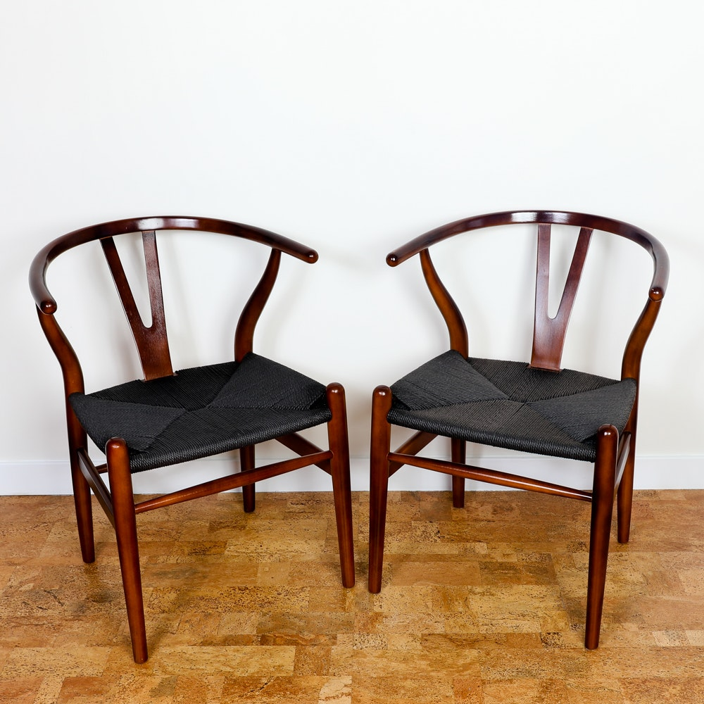 Wishbone Side Chairs in the Style of Hans Wegner