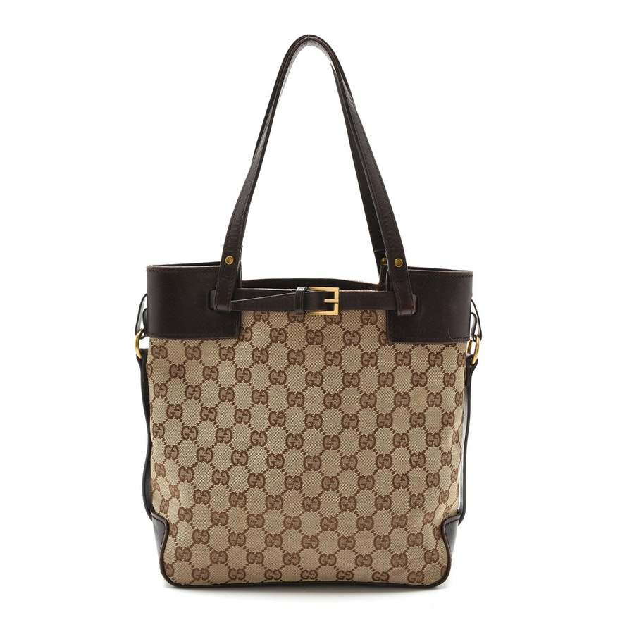 5921f0121c86 Gucci Monogram Tote Bag : EBTH
