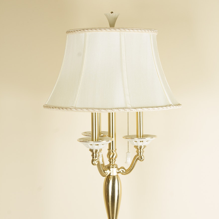 Lenox Lighting By Quoizel Porcelain And Br Floor Lamp
