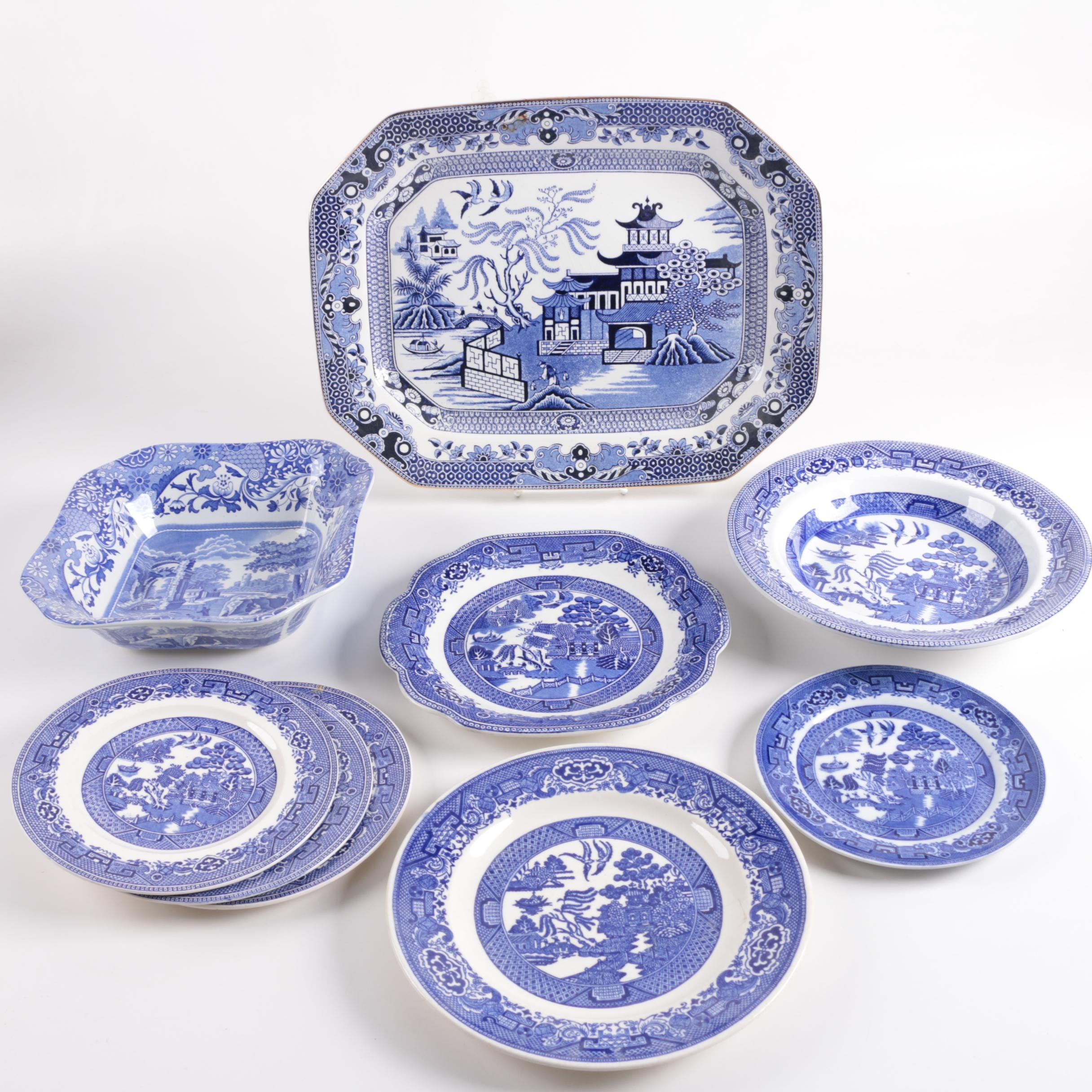 Antique and Vintage English \ Blue Willow\  Tableware and Spode \  ...  sc 1 st  EBTH.com & Antique and Vintage English \