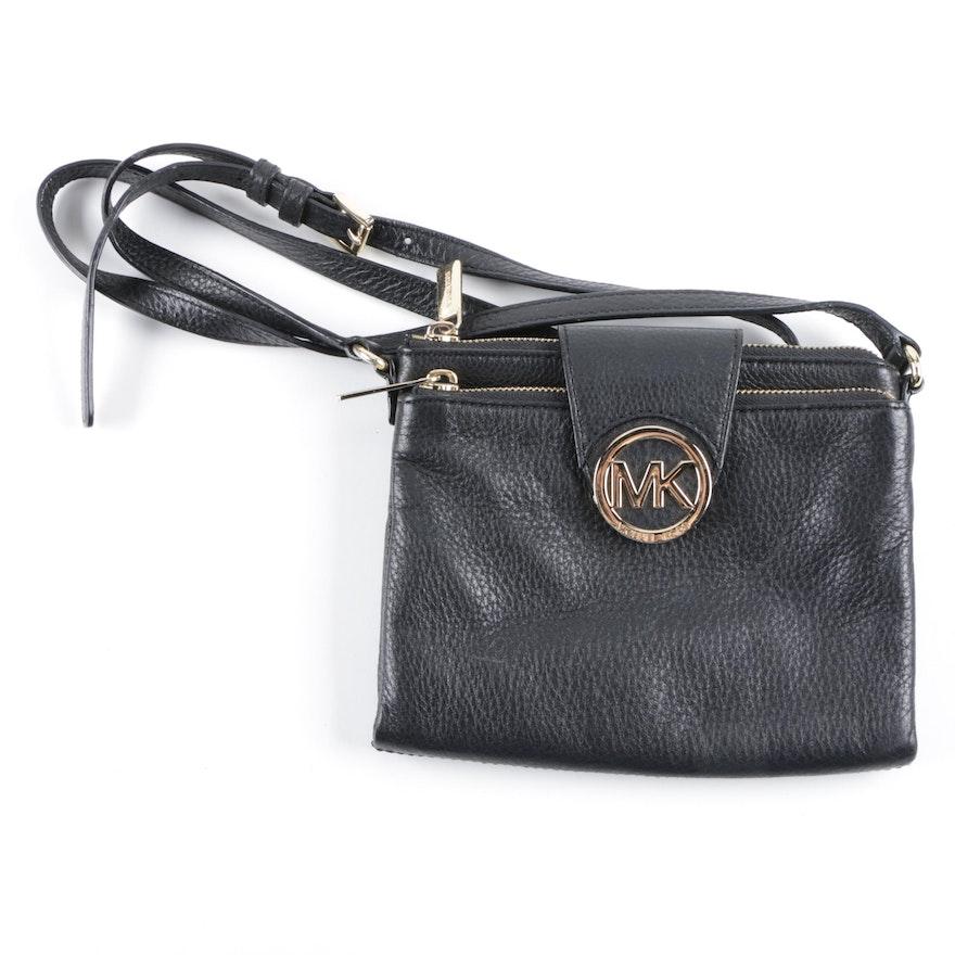 49233ba83b2f8 MICHAEL Michael Kors Black Leather Crossbody Bag   EBTH