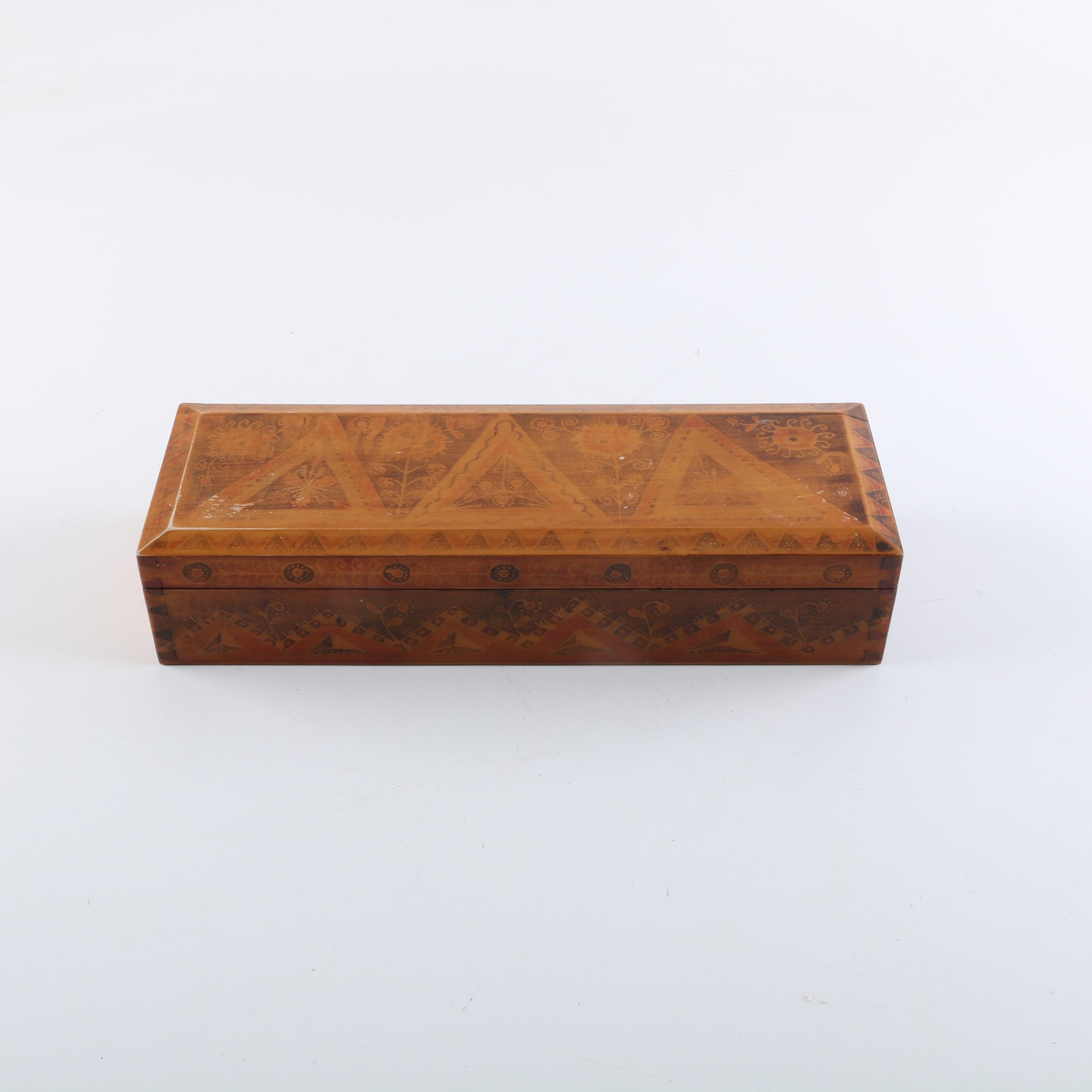Vintage Decorative Wooden Box