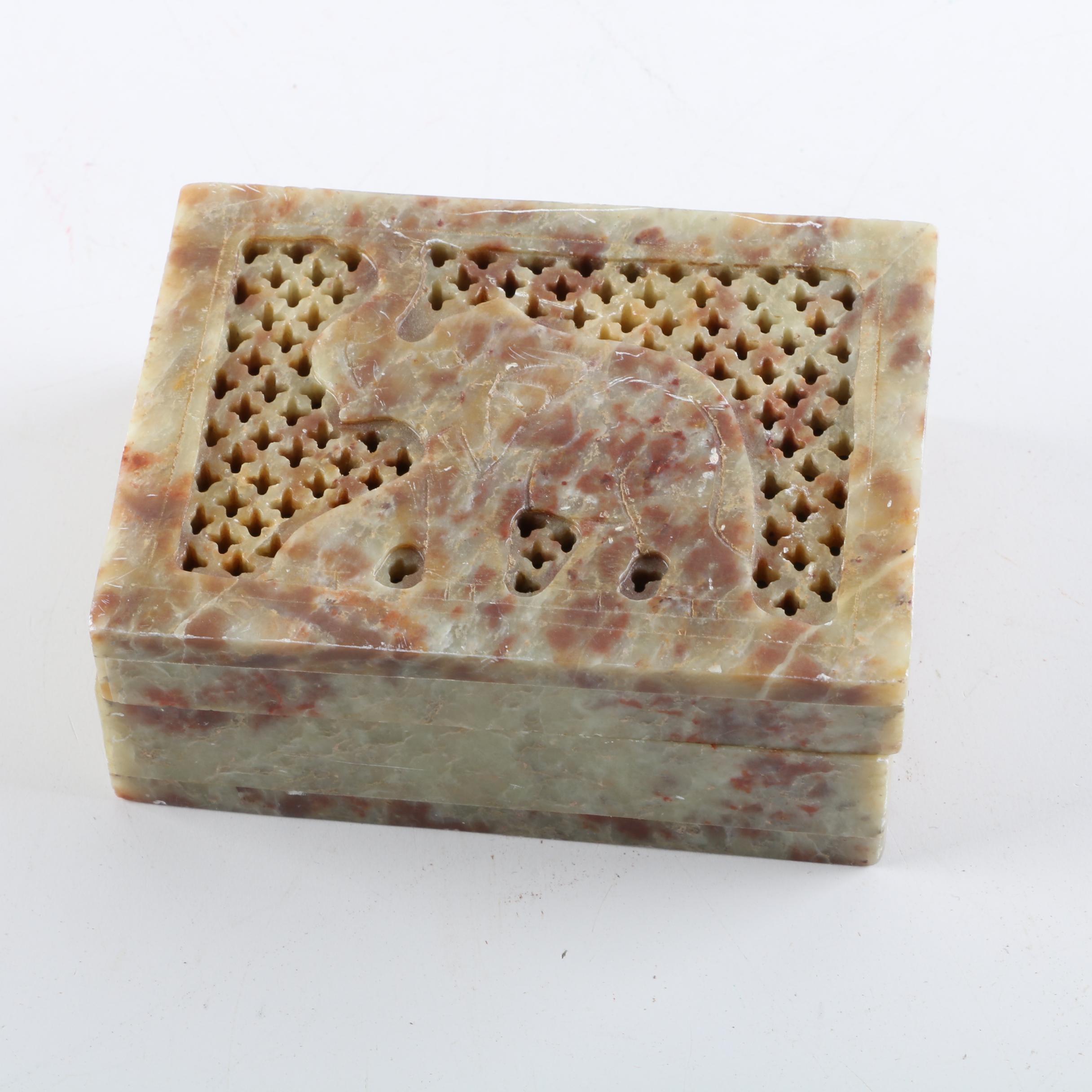 Soapstone Trinket Box