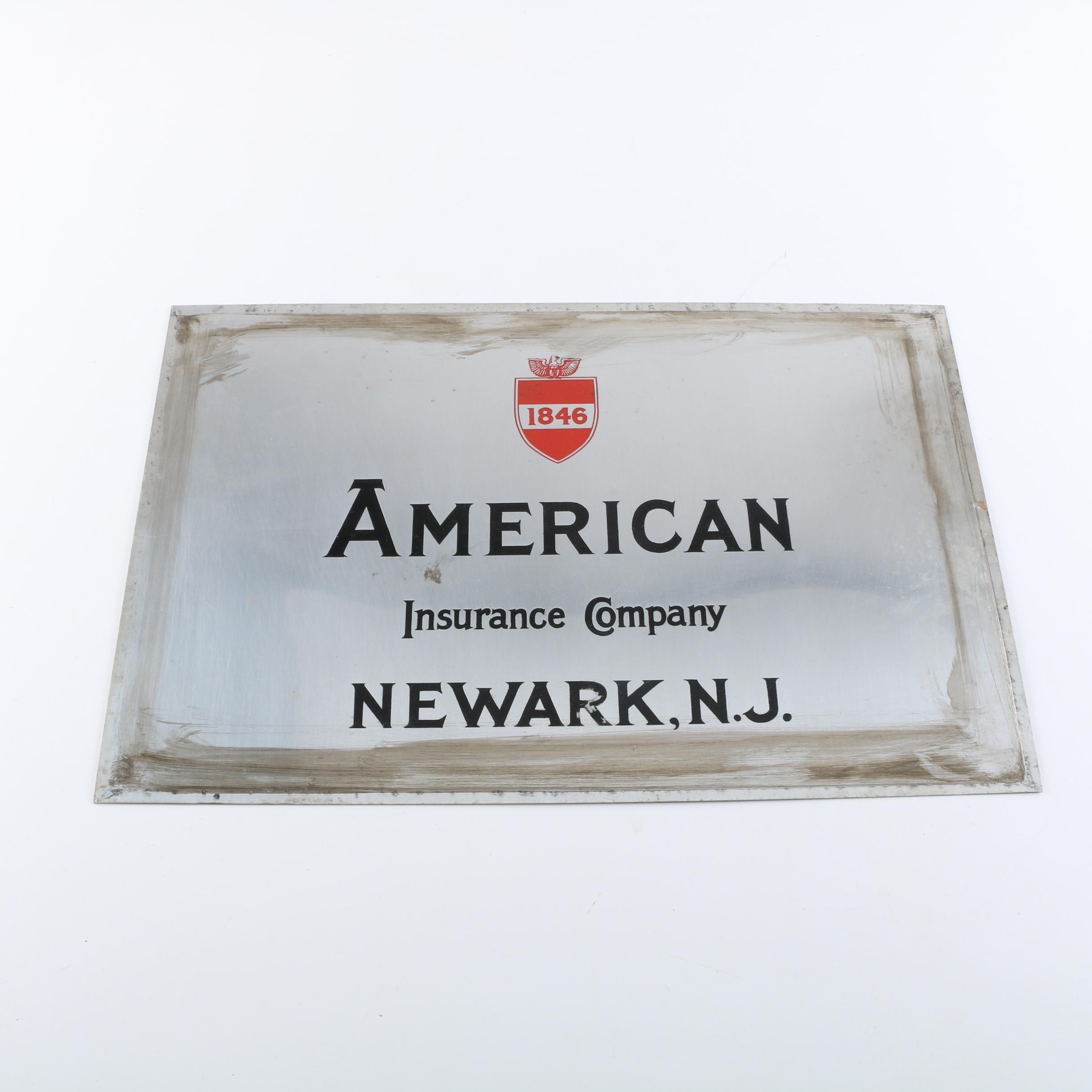 """American Insurance Company"" Sign"