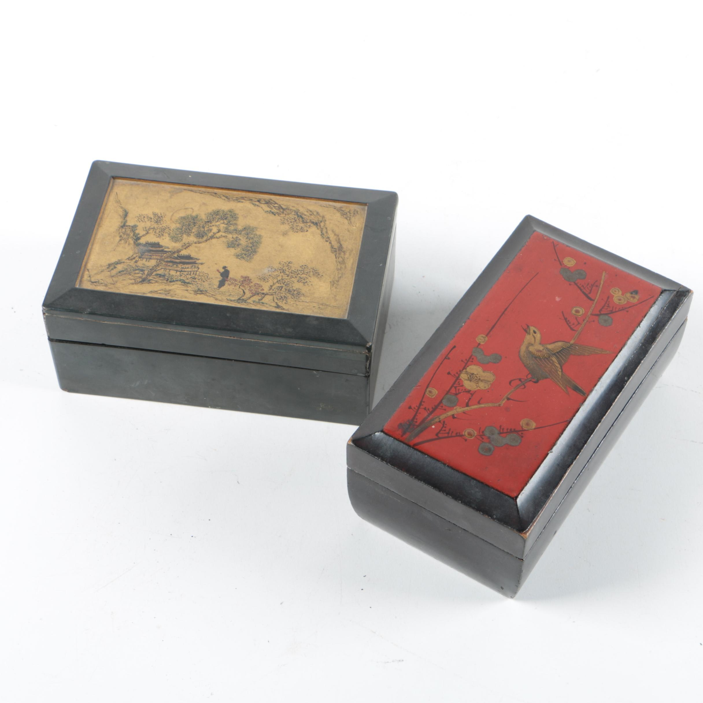 Chinese Lacquered Boxes
