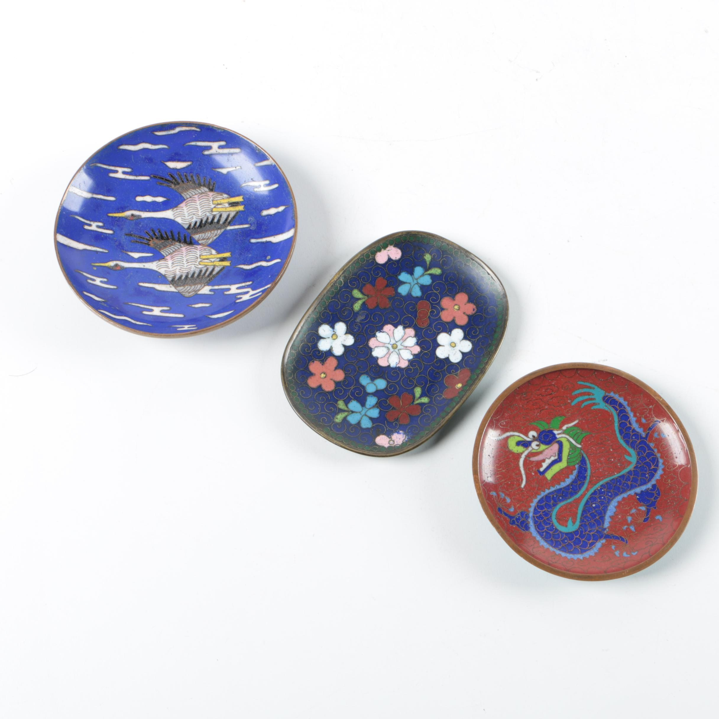 Chinese Enameled Metal Dishes