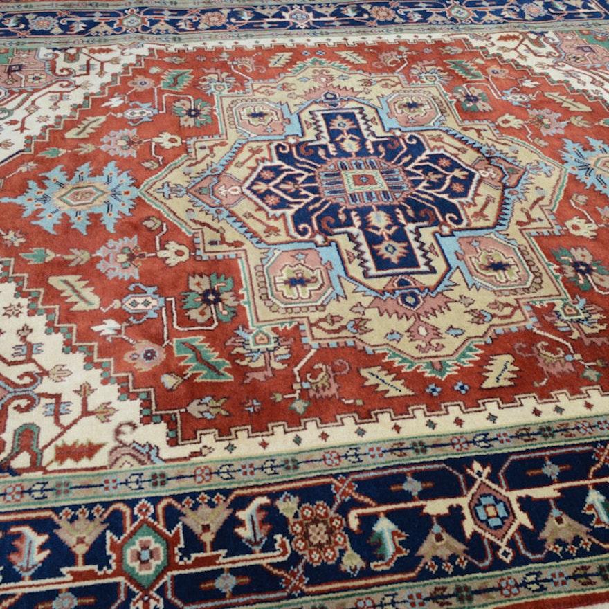 8 X 10 Fine Hand Knotted Indo Persian Heriz Serapi Rug