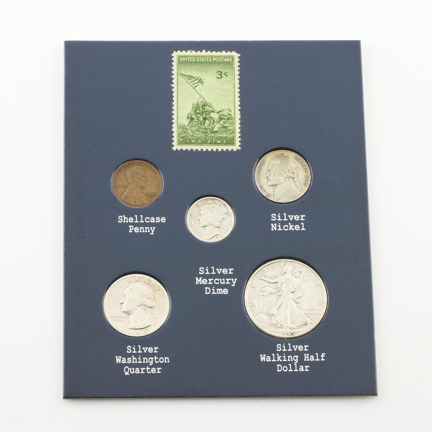 World War II Victory Coin and Stamp Collection