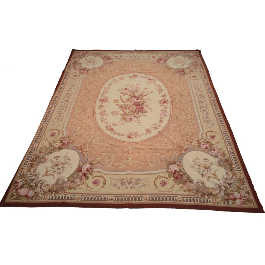 8 X 10 Handmade French Aubusson Style Needlepoint Rug
