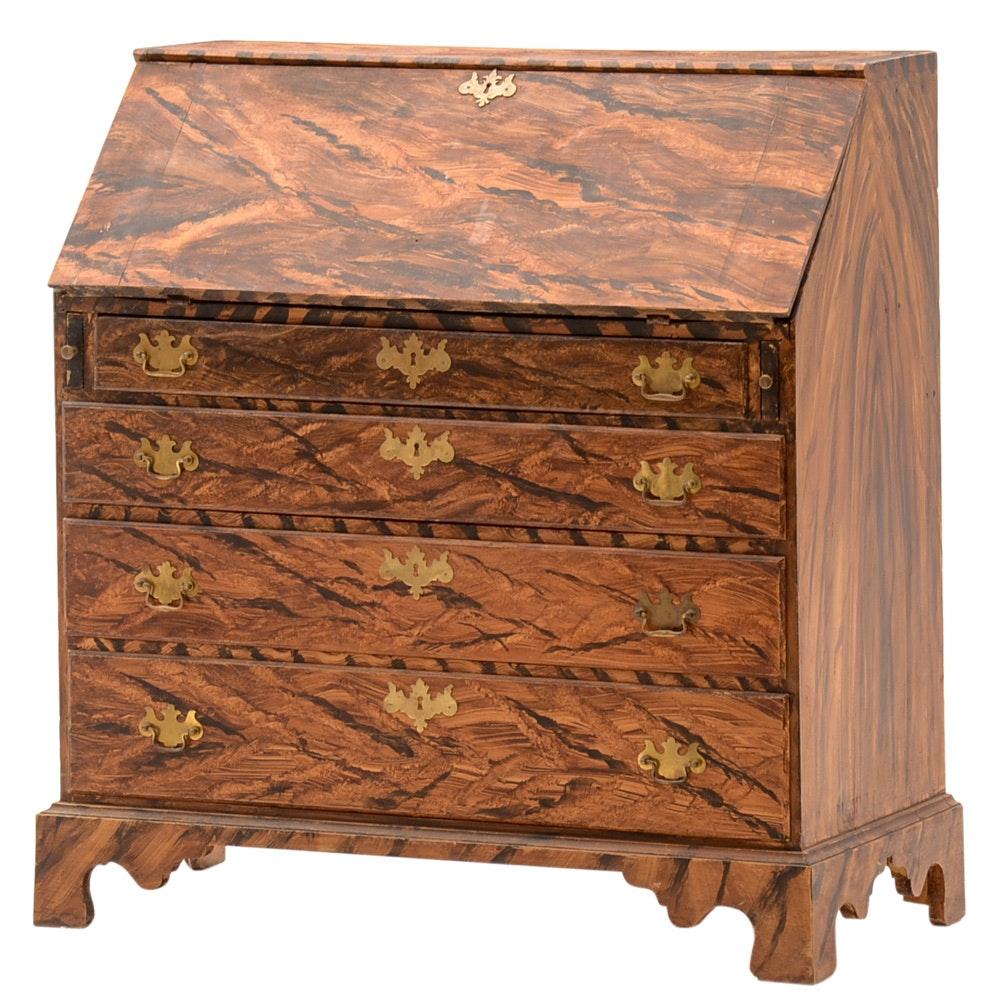 Antique American Slant Front Desk Ebth