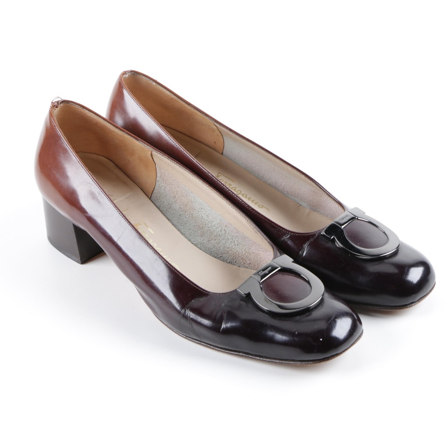 Salvatore Ferragamo Leather Gancini Pumps sale with paypal under 70 dollars reliable cheap price JrTya6