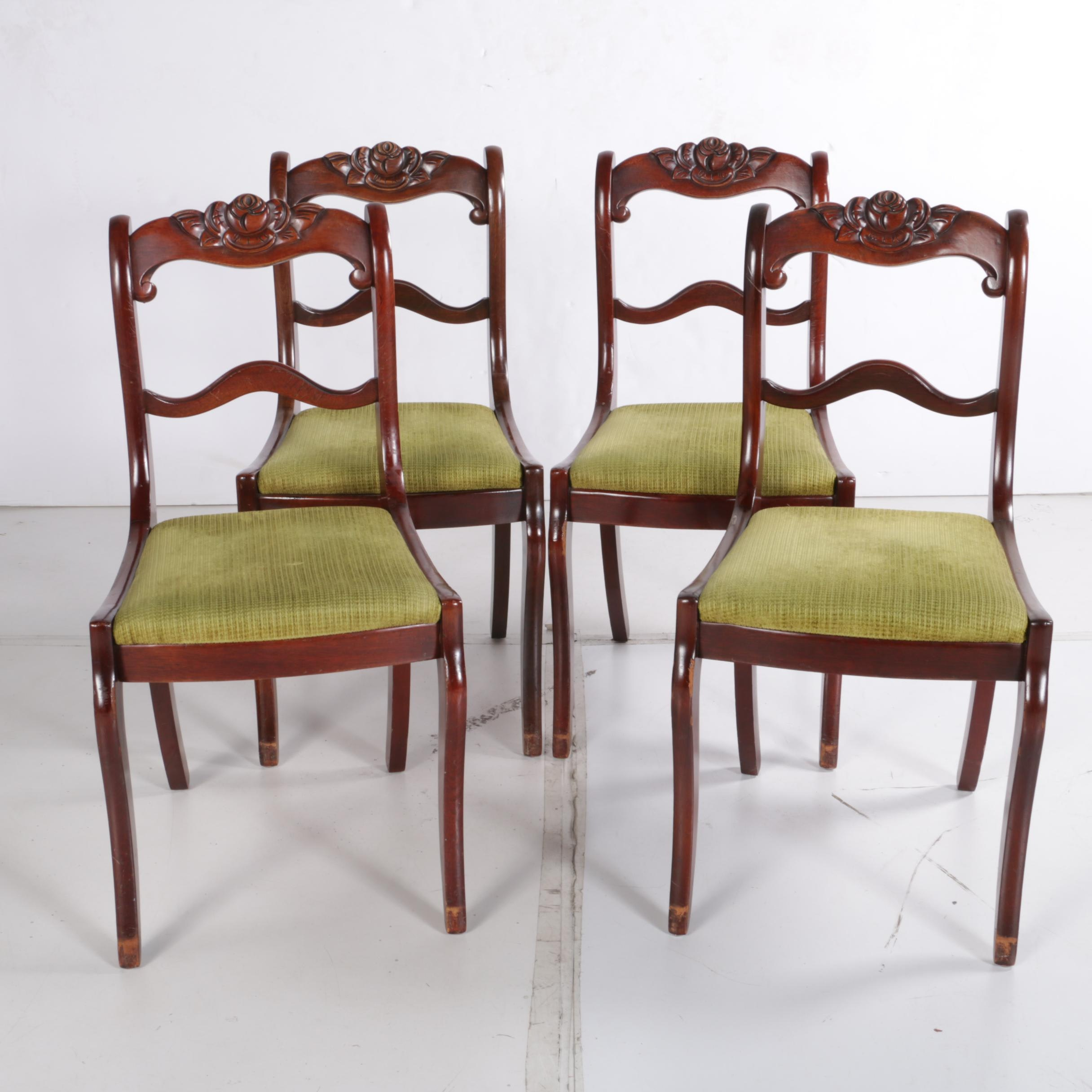 Vintage Ladder Back Dining Chairs