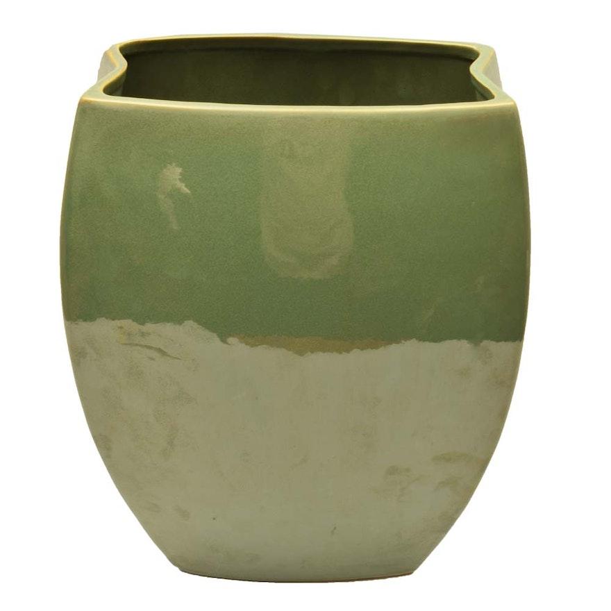 Large Pottery Vase Ebth